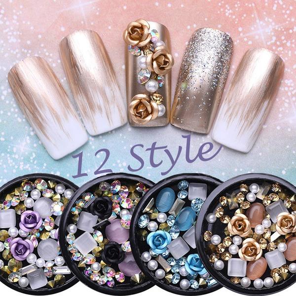 art, nailjewelry, Beauty, Rhinestone