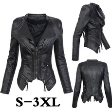 leatherjacketforwomen, Fashion, lapeljacket, leather