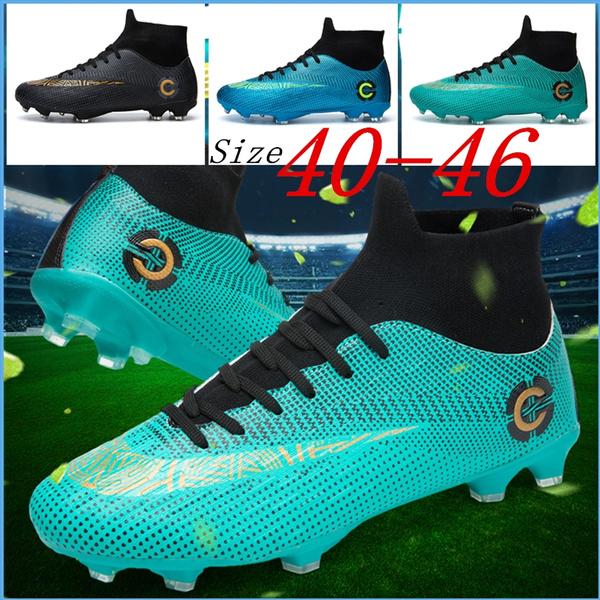 6383ff1f3bb80 New Big Size 40-46 Men Soccer Shoes Football Boots Waterproof Soccer ...