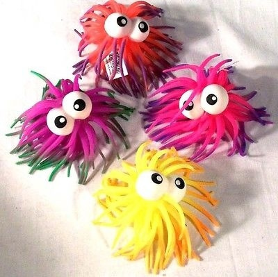 12 CRAZY SPIKE BALL W EYES toy balls novelty yoyo new spikes yo yo toy  bounce