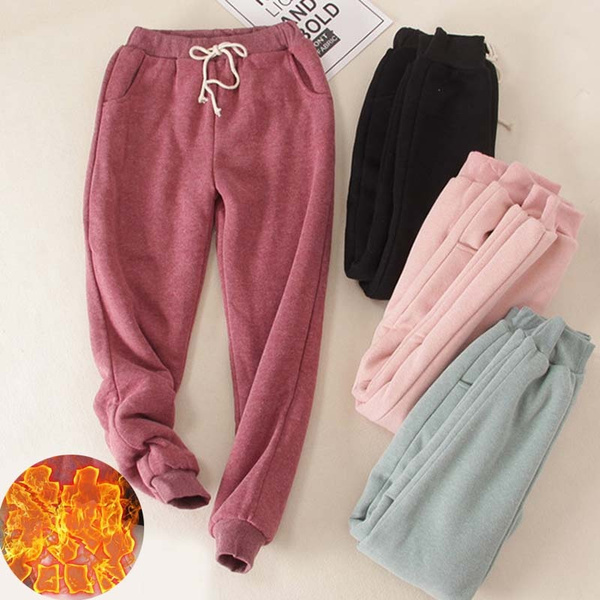 Cotton, harem, trousers, fur