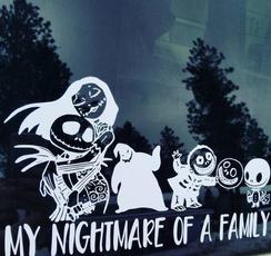 Decal, Christmas, Family, Cars