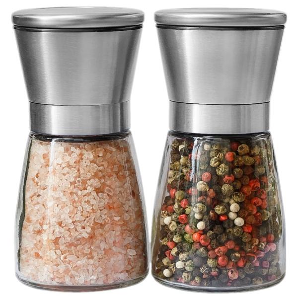 Stainless Steel Salt and Pepper Grinder Mills Shaker with Adjustable Coarseness