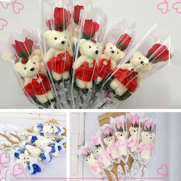 Flowers, Christmas, Gifts, rosebear