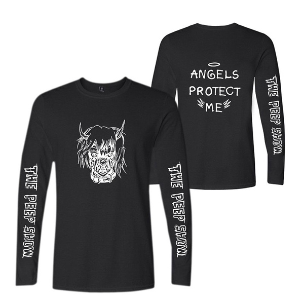 Angels Protect Me T Shirt Round Neck Long Sleeve Hip Hop T Shirts Tee Shirt Sweatshirts Tops Plus Size Xs Xxxxl Wish