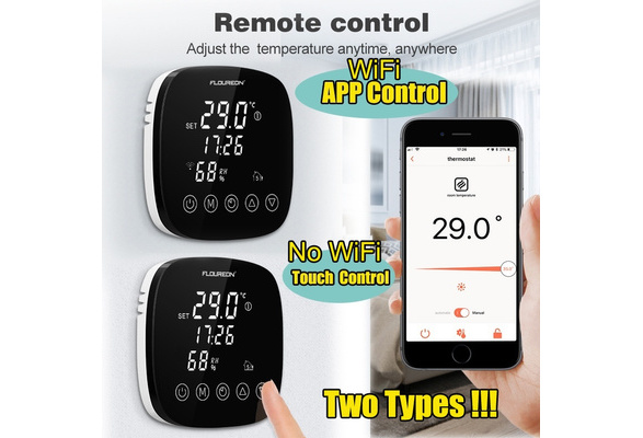 FLOUREON APP Control WiFi Digital Thermostat Programmable for Alexa Google Home