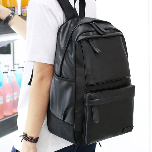 Vintage backpack leather backpack travel school bag shoulder bag