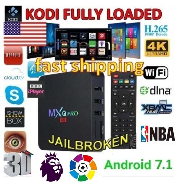 MXQ Pro/X96 MINI Smart TV BOX Fully Loaded 4K Android7 1 Quad Core  1+8G/2+16G Media Player