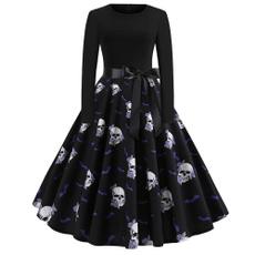 Swing dress, short dress, Sleeve, Long Sleeve