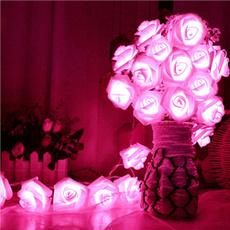 decoration, flowerledlight, roseflowerstring, led