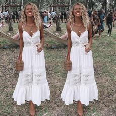 party, Lace, long dress, Dress