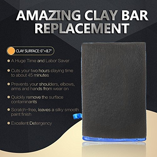 Clay Mitt AutoCare Fine Grade Bar Surface Prep Finish Wash Eraser for Car Detai Automotive Care & Detailing