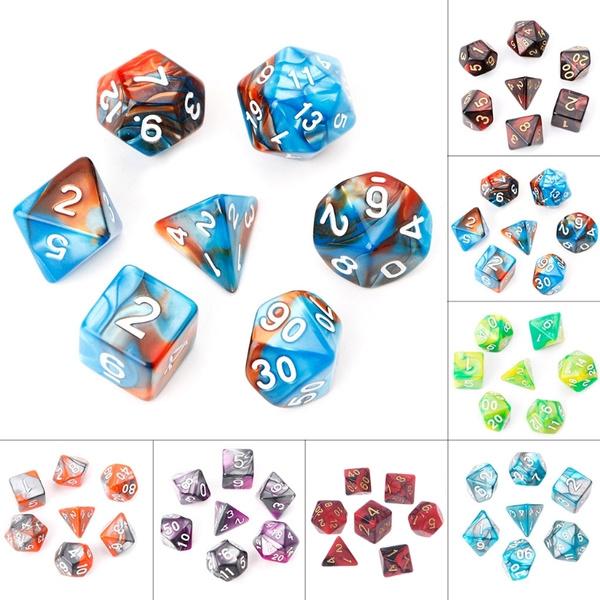 7diceset, Dice, polyhedraldice, Game