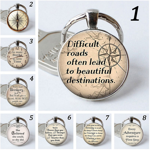 Vintage Cabochon Glass Necklace Silver pendants(adventure requires a first step