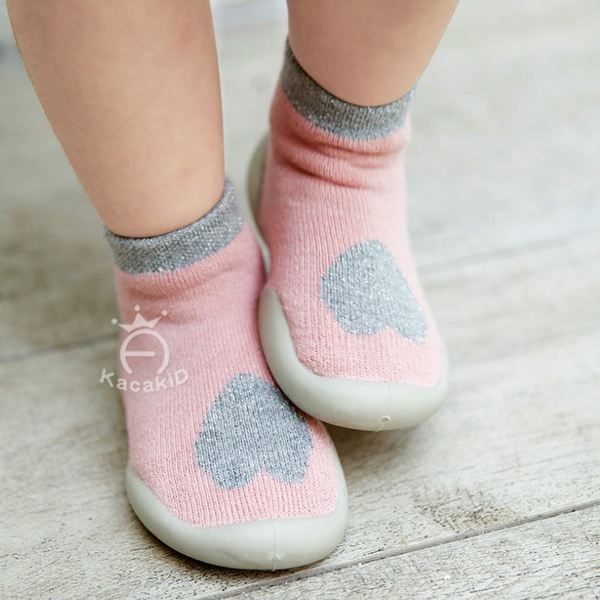 Baby Boys Girls Toddlers Moccasins Non-Skid Indoor Kids Floor Slipper Childrens Animals Outdoor Breathable Cotton Shoes Socks