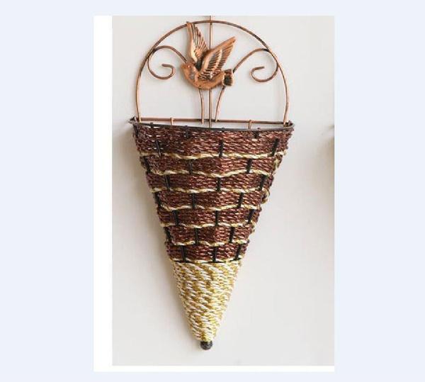 naturalwicker, hangingbasket, Home Decor, Gardening Supplies
