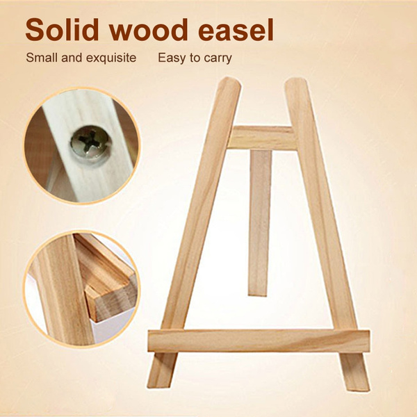 20x28cm Mini Artist Wooden Easel Stand Painting Display Holder Triangle Easels Wedding Table Card Stand