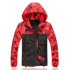Casual Jackets, Outdoor, hooded, Army