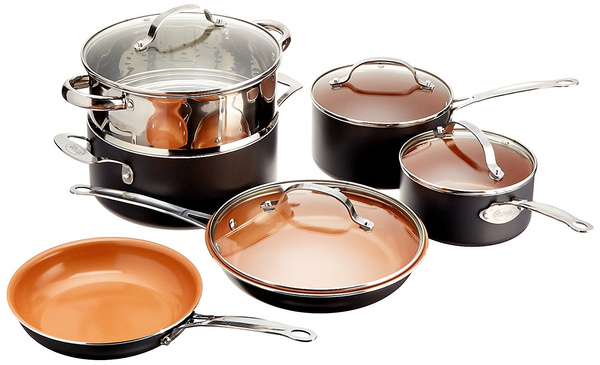 gothamcoppercookware10pc, Steel, Kitchen & Dining, gothamsteel