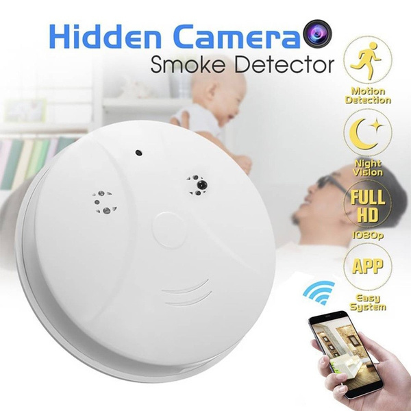 HD 1080P WiFi SPY Hidden IP Camera Nanny Cam Smoke Detector Motion Detection DVR