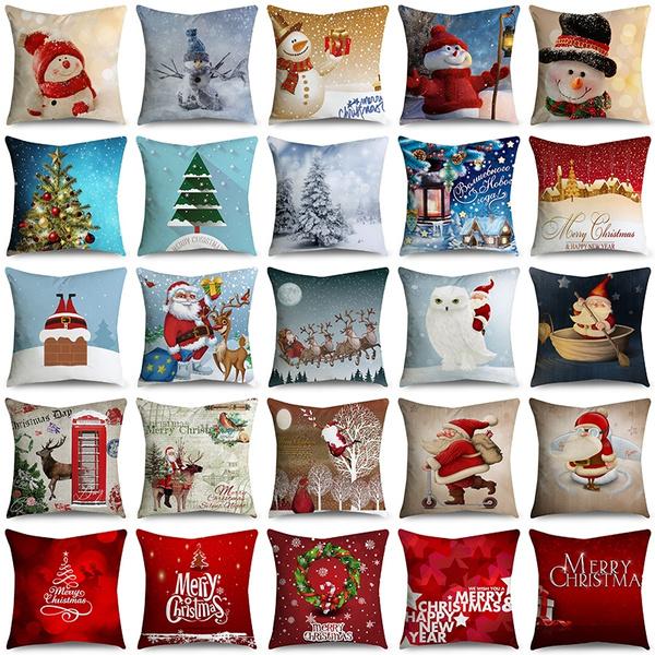christmaspillow, Home & Kitchen, Decor, Christmas