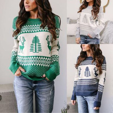 Fashion, christmassweater, knitted, warmsweaterforwomen