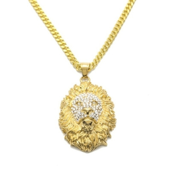 Head, Men  Necklace, lionheadnecklace, Jewelry