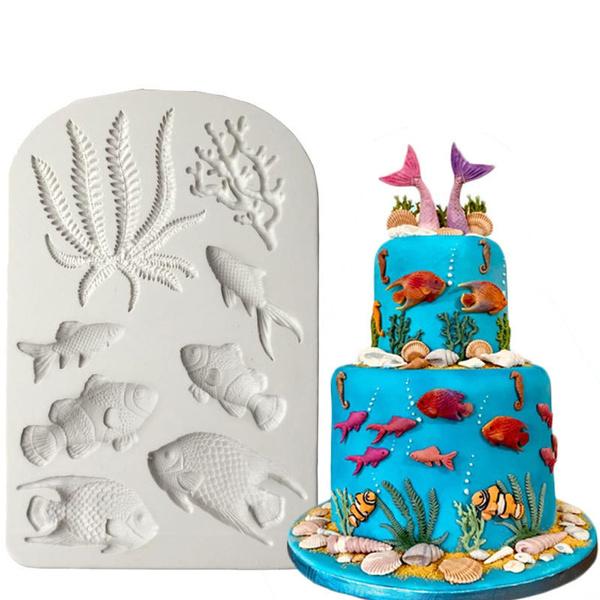 pastrymaking, seacoralmould, Food, Coral