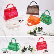 waterproof bag, Shoulder Bags, jellybag, alphabetjellybag