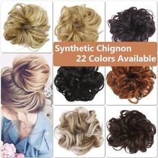 wig, bunshairtool, Hairpieces, Elastic