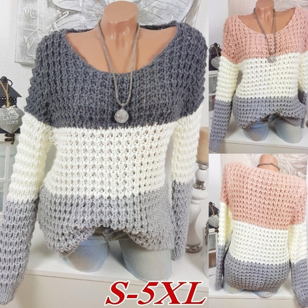 knitted, Women Sweater, Winter, Sleeve