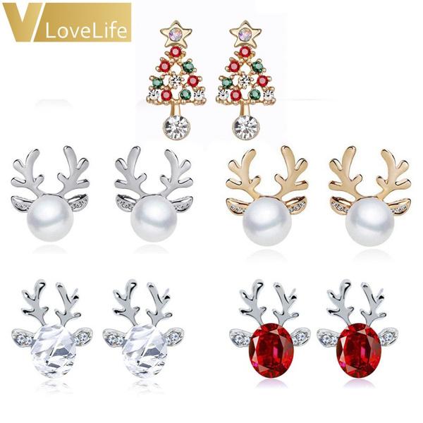 reindeerearring, Christmas, Gifts, Stud Earring