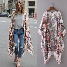 blouse, Women, cardigan, chiffonshawl