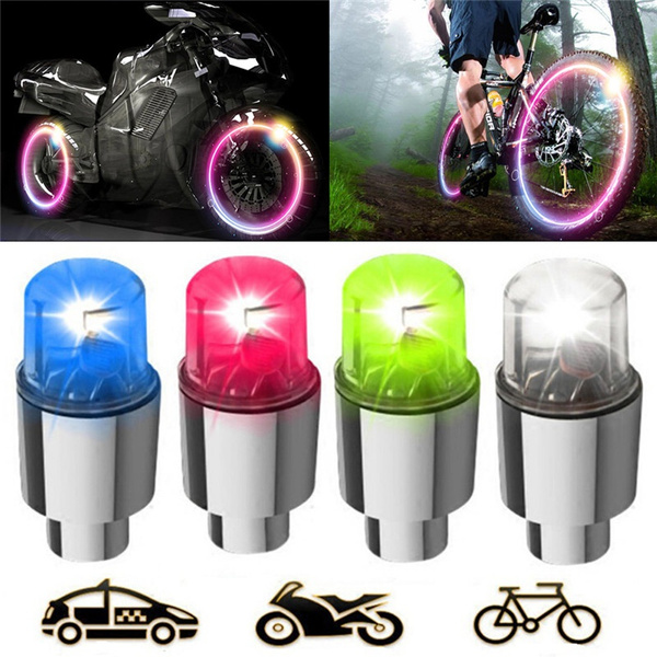 2pcs LED Flash Light Motorcycle Bicycle Car Bike Tyre Tire Wheel Valve Lamp New