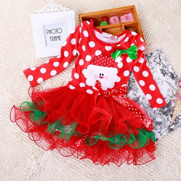 kids clothes, christmaspartyprincessdre, Long Sleeve, Dress