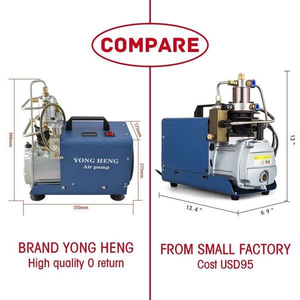 YONG HENG High Pressure Air Compressor Pump 30Mpa 110V Electric Air Pump PCP