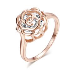 18 k, Fashion, Rose, 925 silver rings