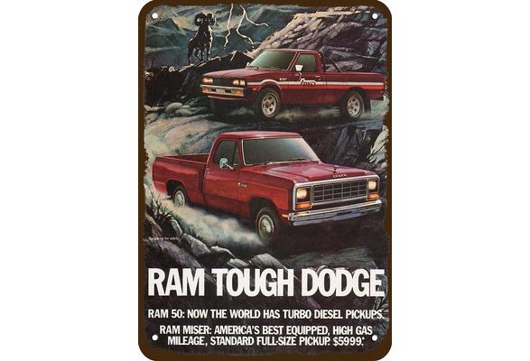 1982 DODGE RAM 50 /& MISER PICKUP TRUCK /& BIGHORN SHEEP Vintage Look METAL SIGN