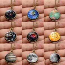 planetpendant, galaxyskynecklace, Jewelry, glassballnecklace