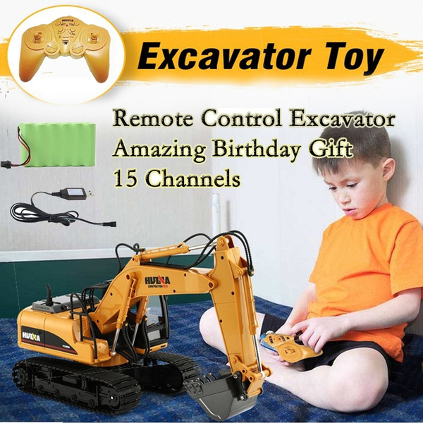 HUINA RC Alloy Excavator RTR with Independent Arms Programming Auto  Demonstration Function BuyListTruck Vehicle Digger RC Car Toy Kids Children  Gift