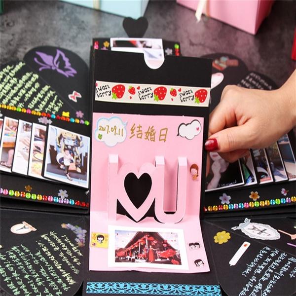 Geek Valentines Day Surprise Gift Explosion Box Diy Manual Album