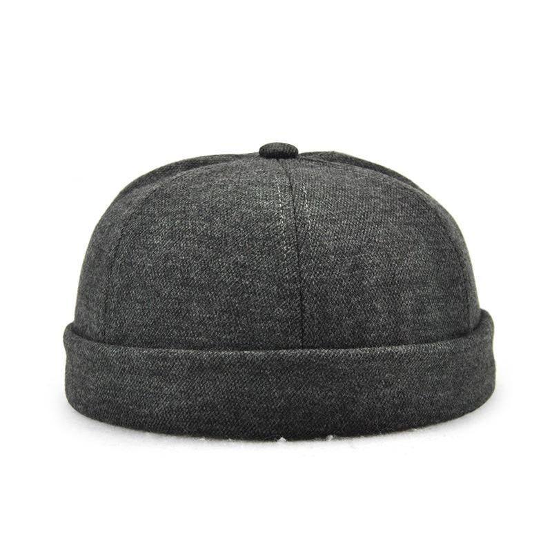 882105ecd Details about Men Skullcap Sailor Cap Landlord Hat Beanie Rolled Cuff Retro  Brimless HAT