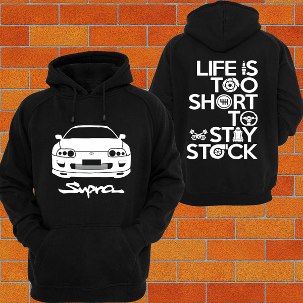 HOODIE Toyota Supra JZA80 Car Turbo Drift TRACK RACE boost hooded jumper trd