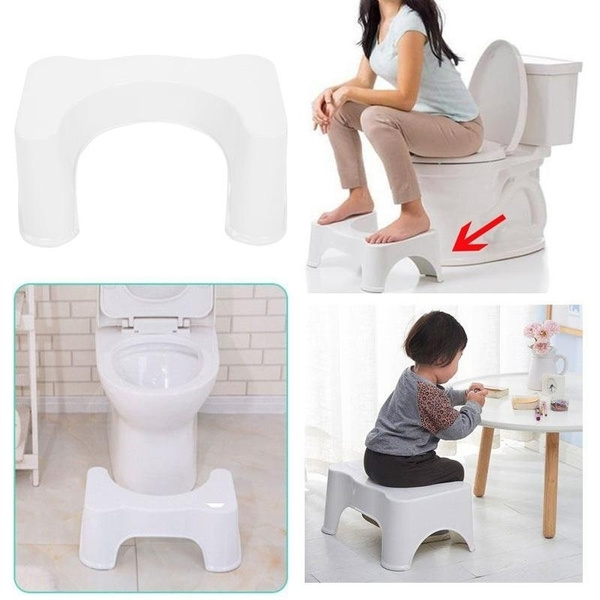 Astounding Squatty Step Stool Bathroom Potty Squat Toilet Helper Assistant Footseat White Machost Co Dining Chair Design Ideas Machostcouk
