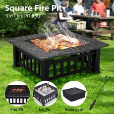squarefirepit, Poker, Outdoor, Garden