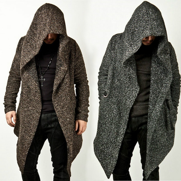 Plus Size, Long Sleeve, Men, cloakcape