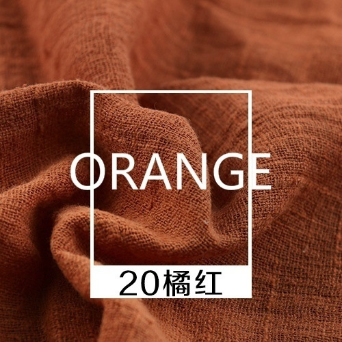 Linen Cotton Fabric Organic Material Pure Natural Flax Cambric Eco Clothes DIY