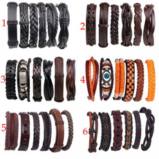 Wristbands, leatherbraceletsbulk, adjustablebracelet, multi-layer bracelet
