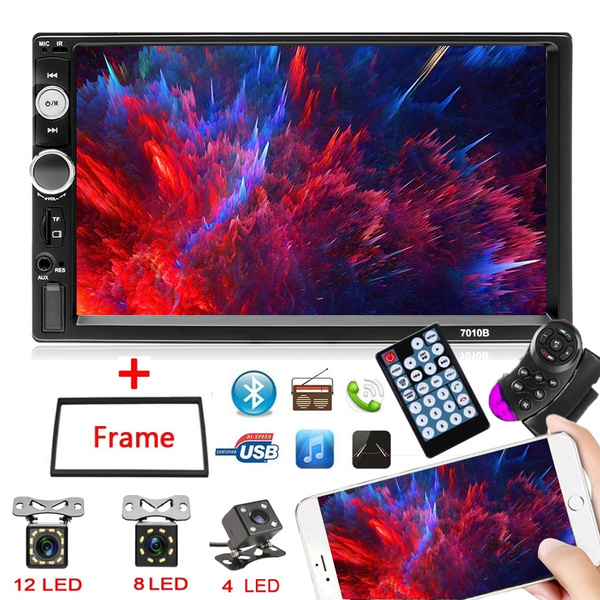 NEW Upgrade 7-inch Double Din Car Stereo Gps Navigation Car Mp5 Player WiFi  Phone Mirror Link Autoradio Gps Automotive with Rear Camera Car Stereo AM