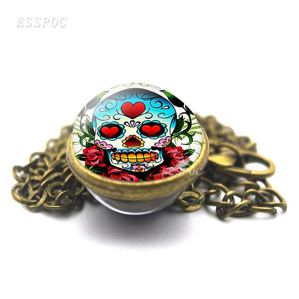 skullnecklace, sugerskullnecklace, Jewelry, halloweengift